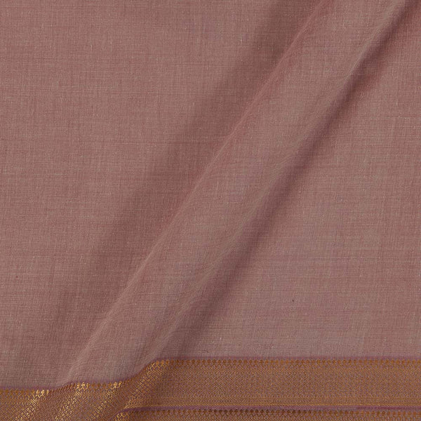 Mangalgiri Cotton Dusty Rose Two Tone Nizam Zari Border Fabric