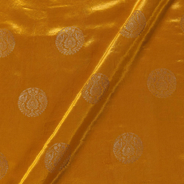 Kasab Butta Patan Gaji Golden Orange Colour Fabric