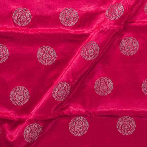Gaji Kasab Mughal Butta Crimson Colour Fabric