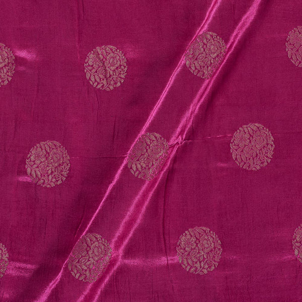 Kasab Butta Patan Gaji Lilac Rose Colour Fabric