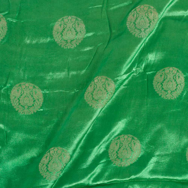 Gaji Kasab Butta Grass Green Colour Fabric