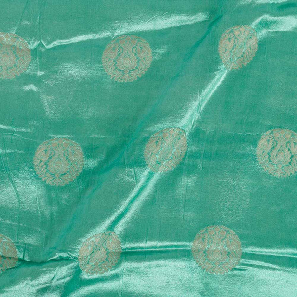 Gaji Kasab Butta Neptune Green Colour Fabric