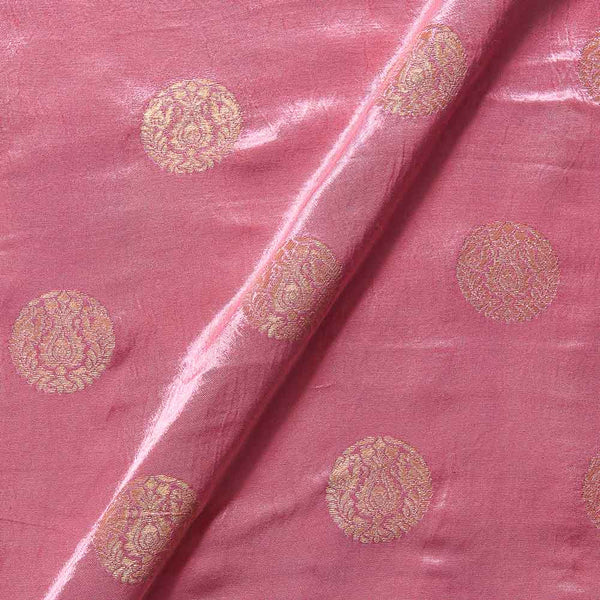 Kasab Butta Patan Gaji Pastel Pink Colour Fabric