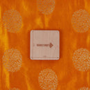 Gaji Kasab Butta Golden Orange Color Fabric