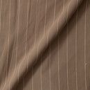 Jute Type Cotton Cedar Colour Fancy RIB Stripe Fabric