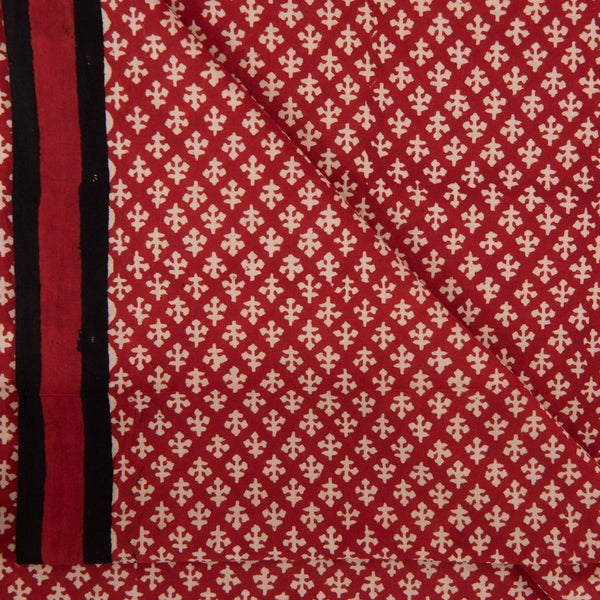 Bagru Cotton Brick Colour 45 inches Width Ethnic Print Fabric