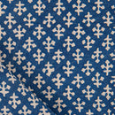 Bagru Cotton Indigo Colour 45 inches Width Ethnic Print Fabric