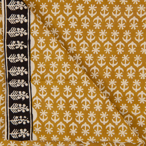 Self Jacquard Cotton Mustard Colour 43 inches Width Fabric