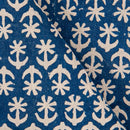 Bagru Cotton Indigo Colour 45 inches Width Floral Print Fabric