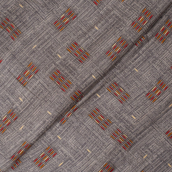 Cedar Colour Geometric Print Rayon fabric