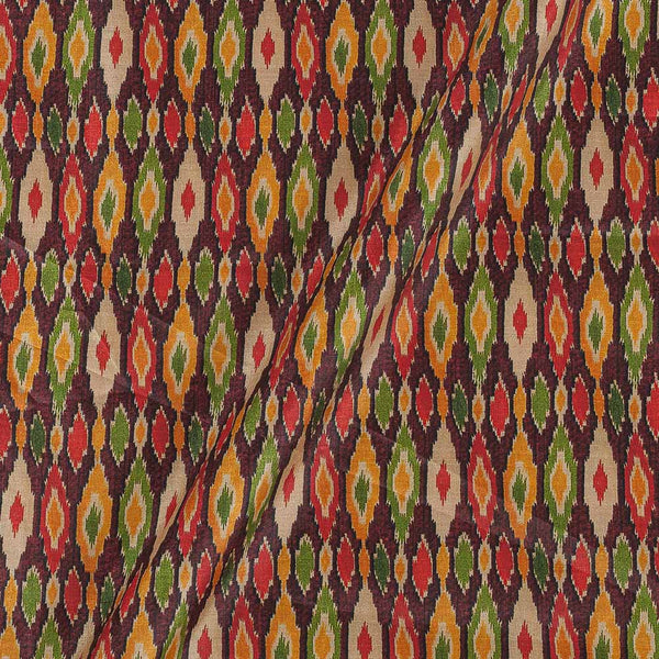 Poly Tussar Multi Colour 43 Inches Width Geometric Print Fabric