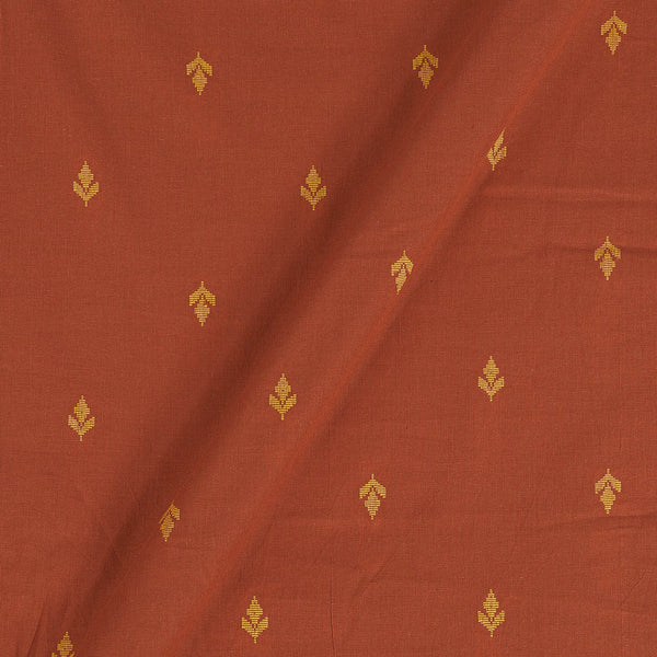 Cotton Rust Colour Butta Jaquard Fabric