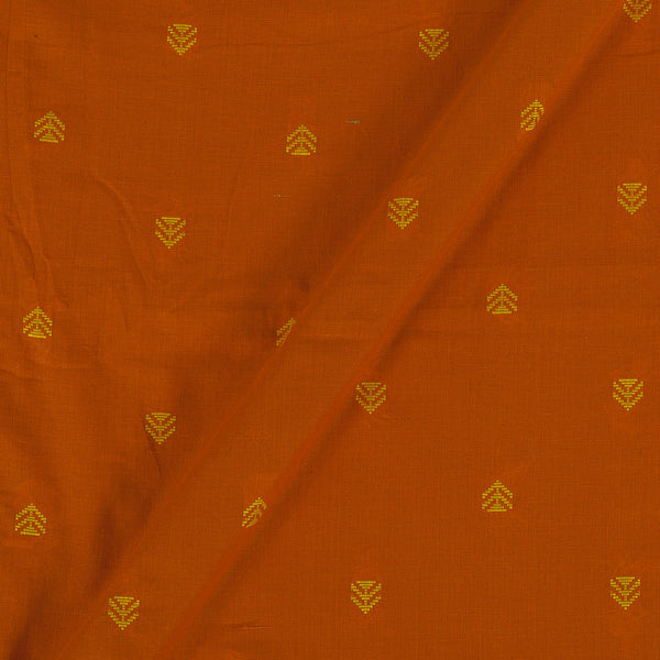 Cotton Jacquard Rust Orange Colour 43 Inches Width Fabric