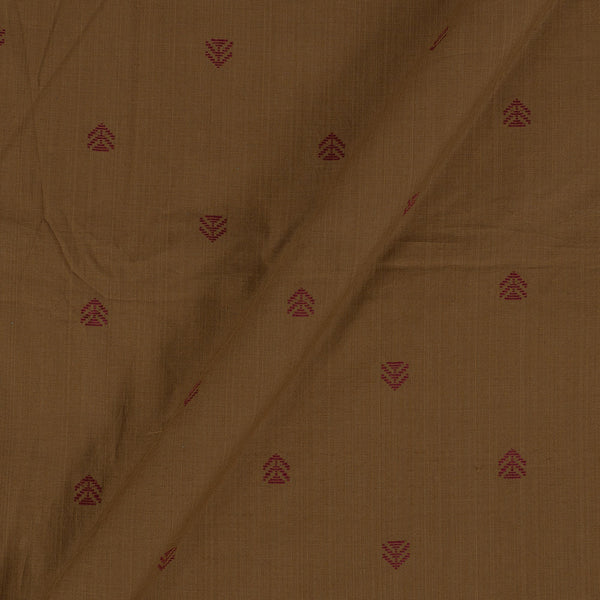 Cotton Jacquard Nut Brown Colour 43 Inches Width Fabric