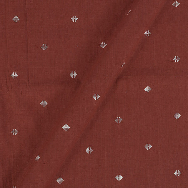 Cotton Self Jacqaurd Brick Colour 43 Inches Width Fabric