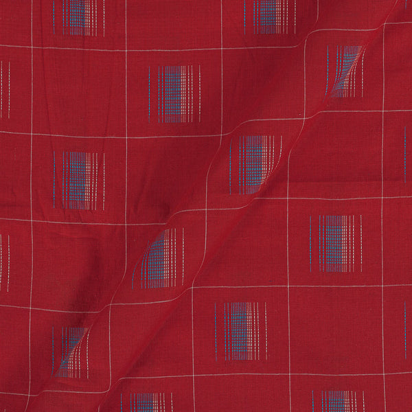 Cotton Self Jacqaurd Red Colour 43 Inches Width Fabric