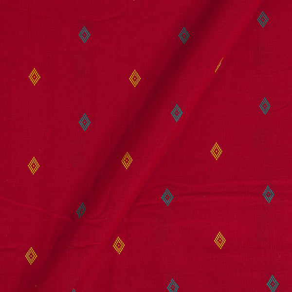 Cotton Red Colour 41 Inches Width Geometric Pattern Jacquard Fabric