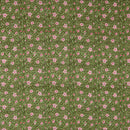 Mal Type Cotton Olive Colour 45 inches Width Hand Block Floral Jaal Print Fabric