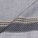 Grey Colour One Side Jacquard Border Handloom Cotton Fabric