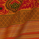 South Cotton Golden Orange Colour 43 inches Width Geometric Print With Two Side Border Fabric