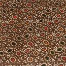 Mashru Gaji Batik Hand Block Print 46 inches Width Brown Colour Fabric