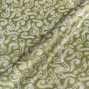 Pastel Green Colour Batik Hand Block Print 45 inches Width Mashru Gaji Fabric