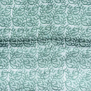Dusty Green Colour Batik Hand Block Print 45 inches Width Mashru Gaji Fabric