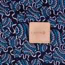 Navy Blue  Colour Natural Hand Block Print Modal Fabric