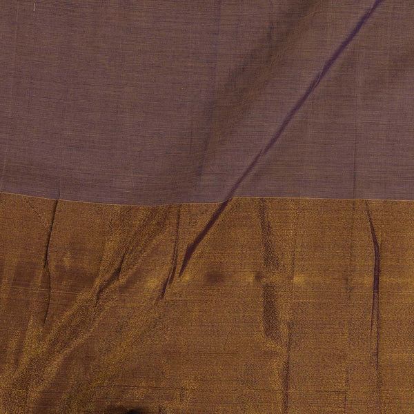 Mercerised Cotton Lavender 45 inches Width With Two Side Ethnic Gold Border Fabric for Sarees and Kurtis