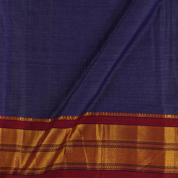 Mercerised Cotton Lavender Two tone 45 inches Width With Two Side Ethnic Gold Border Fabric for Sarees and Kurtis