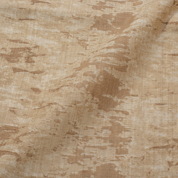 Beige Colour Abstract Print Viscose Dupion Type Fabric