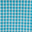 Cotton Light Blue Colour 43 inches Width Pigment Checks Fabric