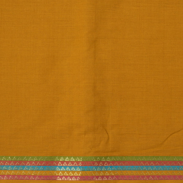 Mustard Colour Plain With Daman Border South Cotton Fabric
