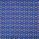 Royal Blue Colour Geometric Design Jacquard Cotton Silk Fabric