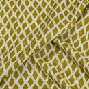 Mehndi Green Colour Bandhani Print Muslin Feel Viscose Fabric