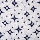 58 inch Width White Colour Geometric Print 18 kg Rayon Fabric