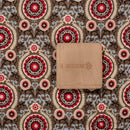 Rayon (18 Kg) Brown Colour Ethnic Print 58 inches Width Fabric