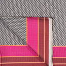 Grey Colour Two Side Border Chanderi Feel Jacquard Cotton Fabric