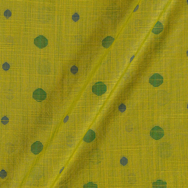 Spun Dupion Jacquard Acid Green Colour Geometric Pattern Fabric