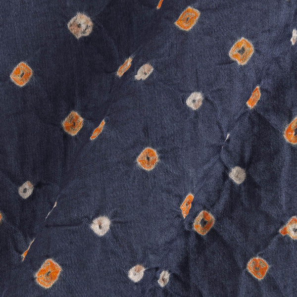 Satin Cotton Steel Grey Colour 40 inches Width Ek Bundi Bandhani Fabric Cut of 2.5 Meter