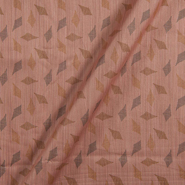 Cotton Satin Dusty Rose Colour Geometric Print 42 inches Width Fabric