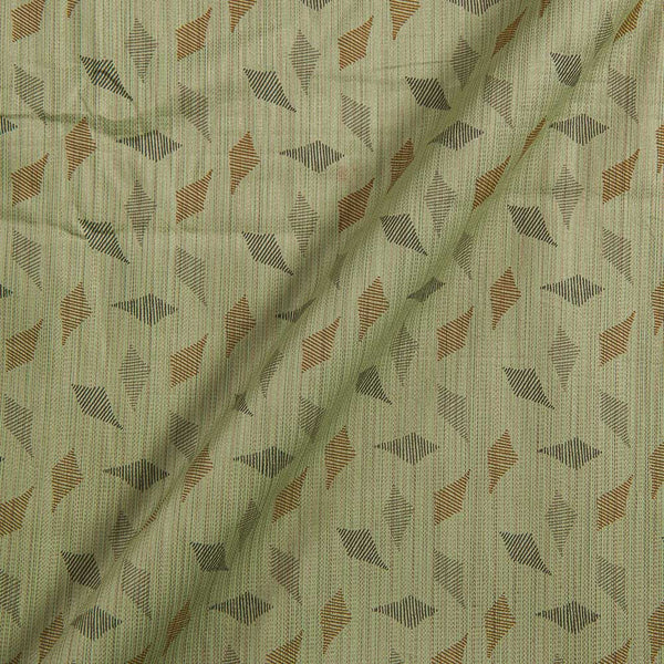 Cotton Satin Pastel Green Colour Geometric Print 42 inches Width Fabric