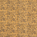 Apricot Orange Colour Dabu Block Print 38 inch Width Pin Tucks Cotton Fabric