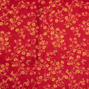 Rayon Dobby Poppy Red Colour 43 Inches Width Discharge Print Fabric