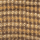 Mustard Brown Colour Bagru Block Print Cotton Modal Satin Fabric