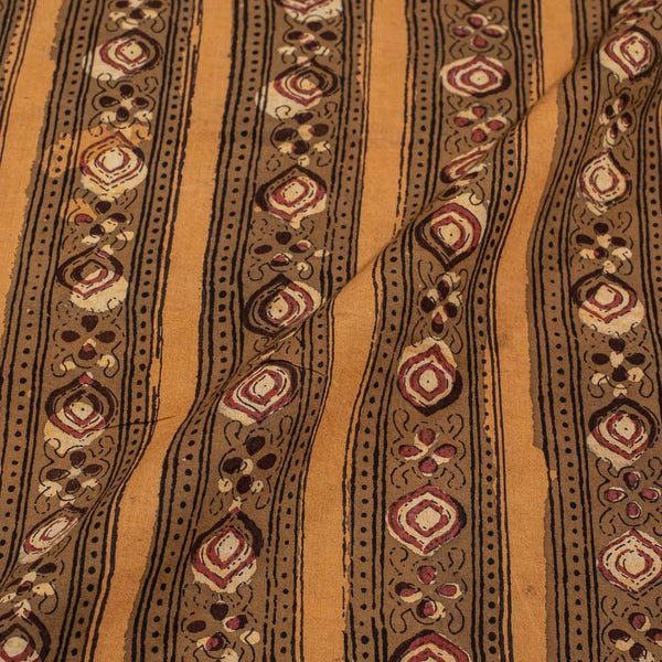 Mustard Colour Jawatha Dabu Cotton Fabric