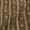 Olive Green Colour Jawatha Dabu Cotton Fabric
