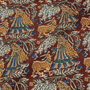 Plum Colour Bagru Print Cotton Fabric