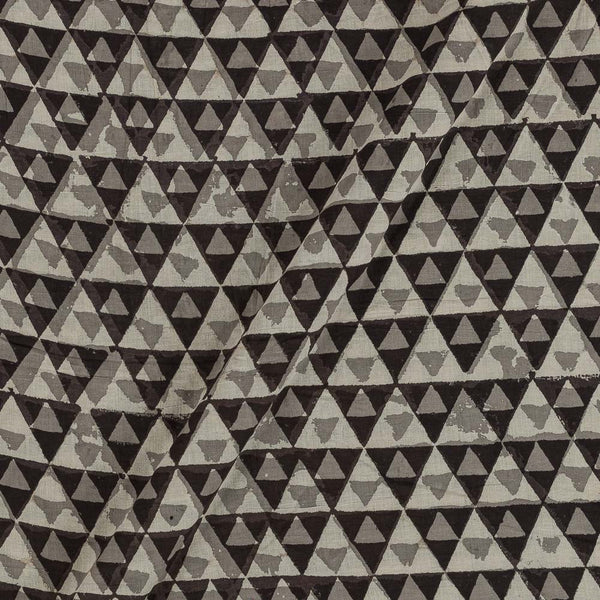 Cotton Cedar Colour Geometric Block Print Fabric