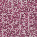 Mal Cotton Rosewood Colour 43 Inches Width Jaal Print Dabu Fabric